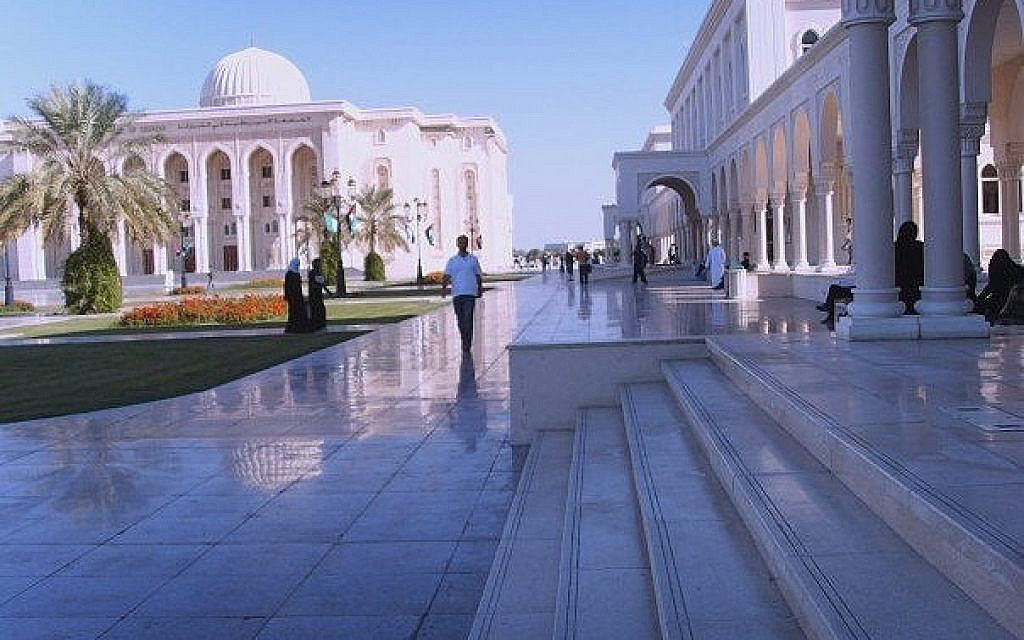 The campus at the American University of Sharjah, the third largest of the seven emirates that make up the UAE (Michael Bassin)