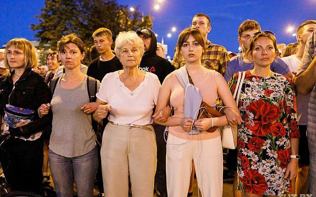 Protesters in Minsk. Photo by Olga Shukailo