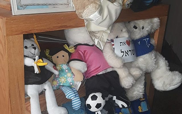 picture taken by Rabbi Claire Ginsburg Goldstein of toys not yet packed for Israel due to Covid 2020.