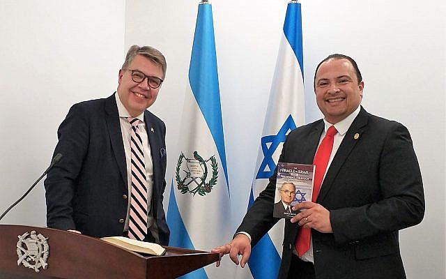 The writer with H.E. Mario Bucaro, Guatemalan Ambassador to Israel 2018-2020.