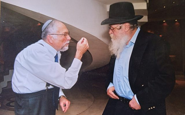 Dr. Gottesman, left, with Rabbi Adin Steinsaltz (Courtesy Menachem Gottesman)