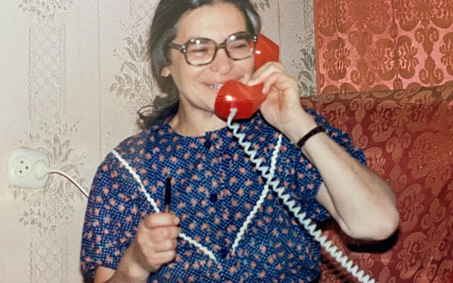 Ida Nudel, Mother of the Refusenicks, shortly after receiving permission to leave the USSR, October 2, 1987. (Courtesy)