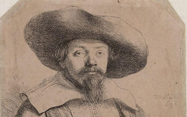 Portrait of a rabbi, possibly Menasseh ben Israel, by Rembrandt. (Public Domain/ Wikimedia Commons)