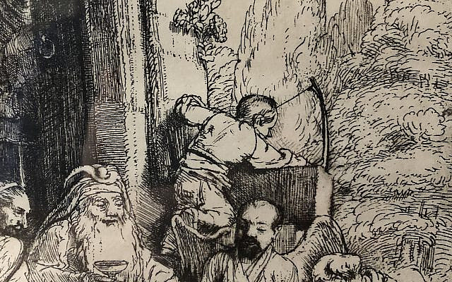 Abraham Welcomes Guests (Rembrandt van Rijn)