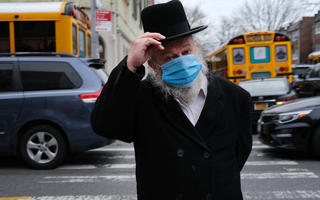 A member of the Orthodox Jewish community in Brooklyn. (Spencer Platt/Getty Images)