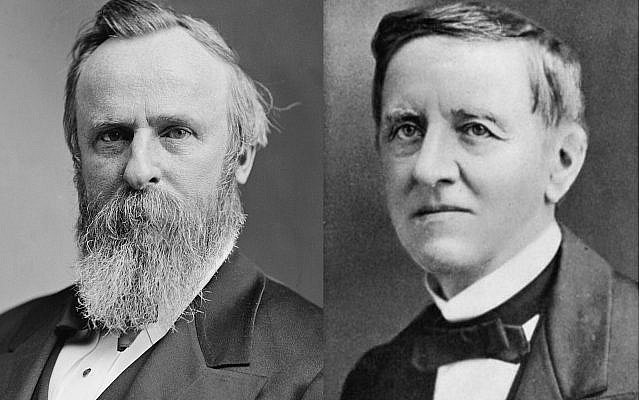Rutherford B. Hayes (l) and Samuel J. Tilden. (Public Domain/ Wikimedia Commons)