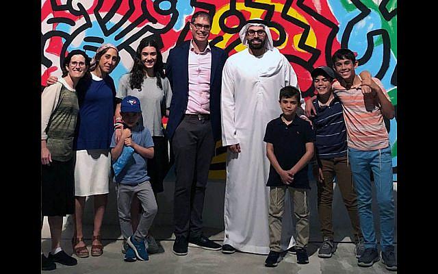 The Sarna family in the UAE (Courtesy Michelle Sarna)