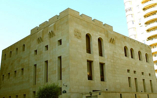 Synagogue of Mountain Jews in Baku (Wikipedia/AuthorUrek Meniashvili/ Attribution-ShareAlike 3.0 Unported (CC BY-SA 3.0)) via Jewish News