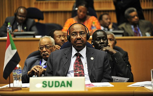Omar Hassan Ahmad al-Bashir, the former president of Sudan, listens to a speech during the opening of the 20th session of The New Partnership for Africa's Development in Addis Ababa, Ethiopia. (Source: WIkimedia Commons. Credit: U.S. Navy photo by Mass Communication Specialist 2nd Class Jesse B. Awalt/Released via Jewish News)