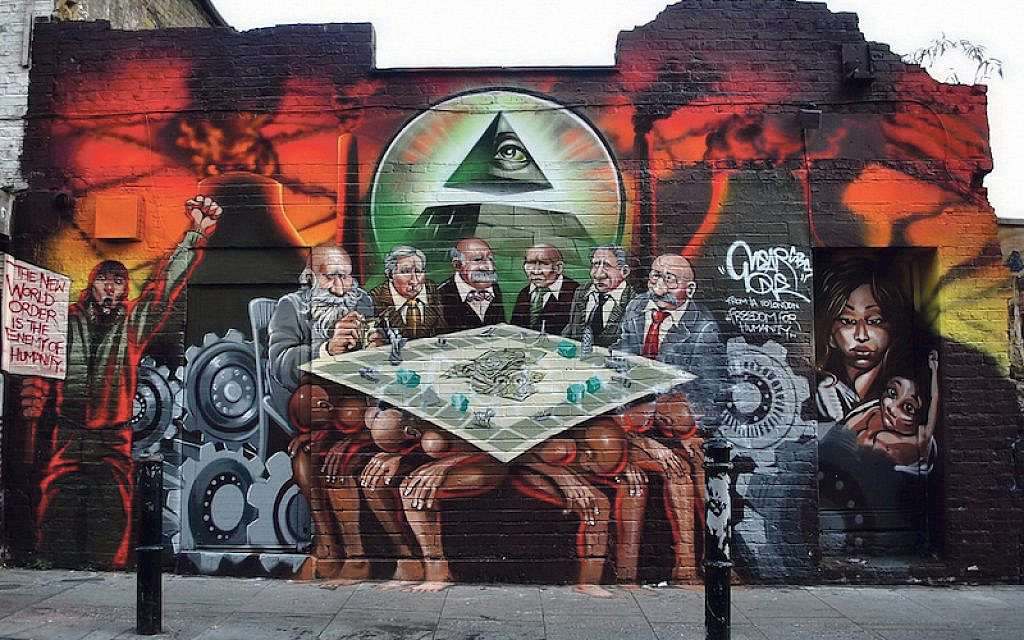 Infamous mural which Corbyn questioned as to whether it was antisemitic (Via Jewish News)
