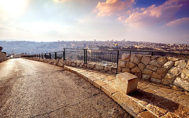 A road on Mount of Olives, with a view of the Old City Jerusalem, Israel. (iStock)