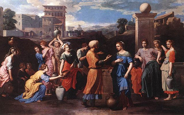 Rebecca at the Well by Nicolas Poussin, 1648, Musee du Louvre.
