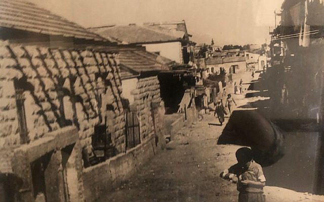 Geza and Phoebe's house (left side) in Nachlaot, Jerusalem, 1920.
