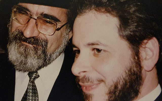 Photo with Rabbi Sacks from April 1992 at rabbi Geoff's induction at Belmont United Synagogue