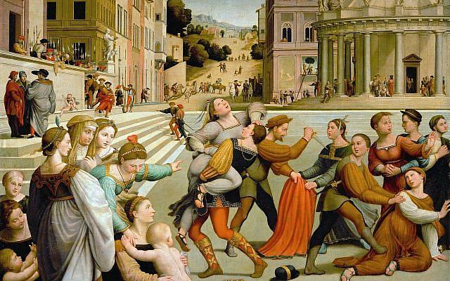 The abduction of Dinah, Giuliano di Piero di Simone Bugiardini ca. 1523.
