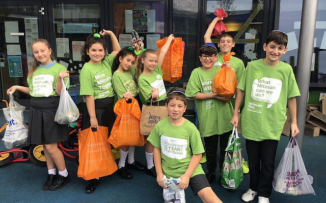 WIJPS collected for Camp Simcha and Redbridge Food Bank (Mitzvah Day)