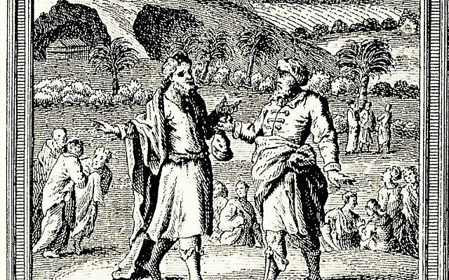'Abraham Buys the Field of Ephron the Hittite,' by William Hogarth, c. 1725. (Wikipedia)