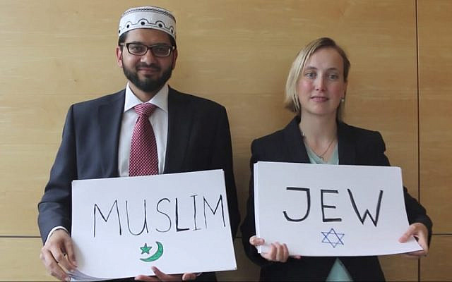 Imam Qari Asim with Rabbi Esther Hugenholtz. (Jewish News)