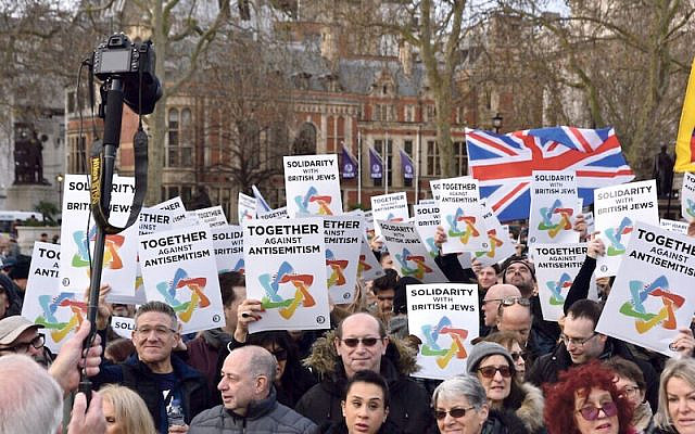 Campaign Against Antisemitism rally against antisemitism (Jewish News)