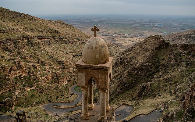 View of the Monastery of Raban Hormizd  overlooking Alqosh.