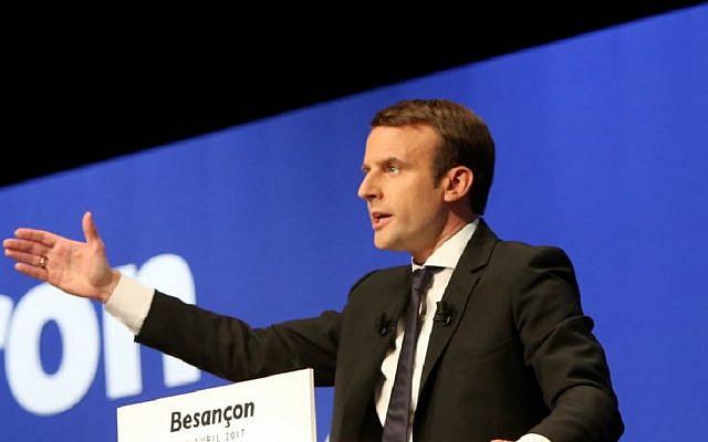 Emmanuel Macron (Via Jewish News)