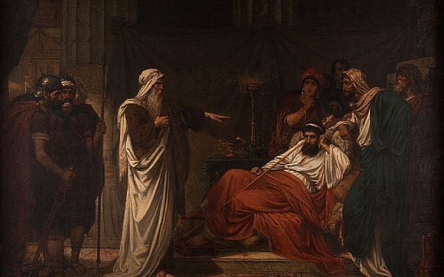 Eugène Siberdt - The Prophet Nathan rebukes King David. (public domain)