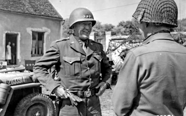US General George S. Patton ('Old Blood and Guts') (1885-1945); 1944-08-25; (Wikimedia Commons)