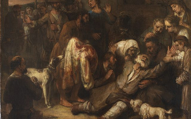 'Jacob Shown Joseph's Bloody Coat,' Circle of Rembrandt van Rijn, 1650s. (The Leiden Collection)