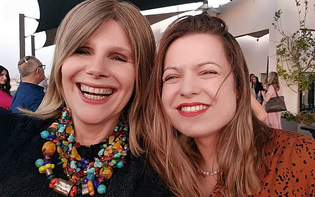 Nurit Sirkis-Bank (left) and Bella Raboy (right) enjoyed each other's company at a May event in honor of the television airing of the docudrama in which they were featured, Od Nipagesh. Courtesy of Nurit Sirkis-Bank