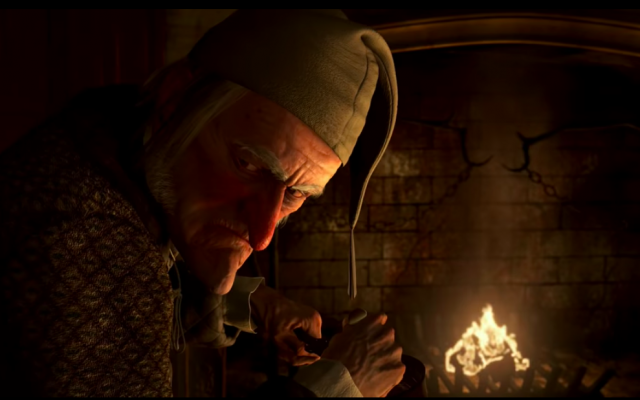 Screen shot from Disney's 'A Christmas Carol'