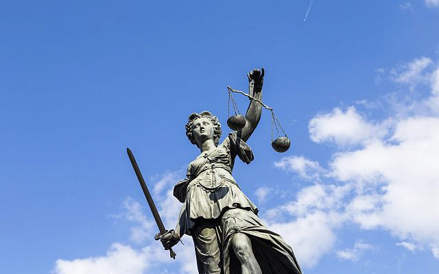 Statue of Lady Justice (Justitia) in Frankfurt, Germany (Stock)