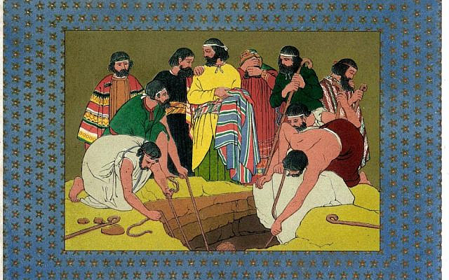 'Joseph Cast into the Pit,' illustration by Owen Jones from 'The History of Joseph and His Brethren' (Day & Son, 1869). (Wikipedia, public domain)
