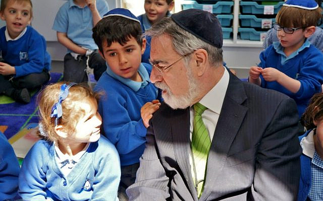 (Photo: With permission from the Office of Rabbi Sacks)