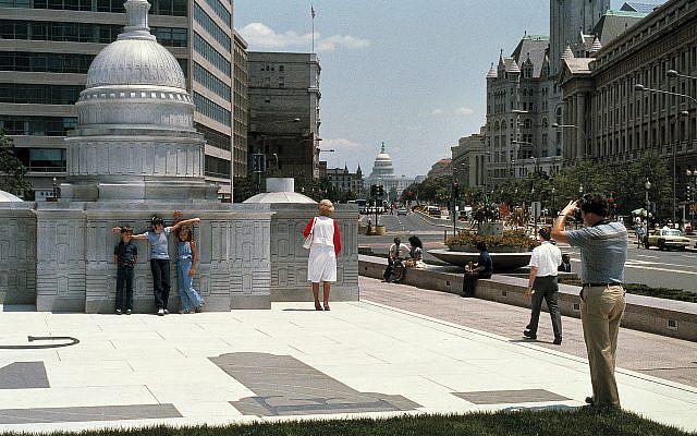 Freedom Plaza, Washington DC.  Tom Bernard, Photographer.   Photo by permission of VSBA Architects and Planners.