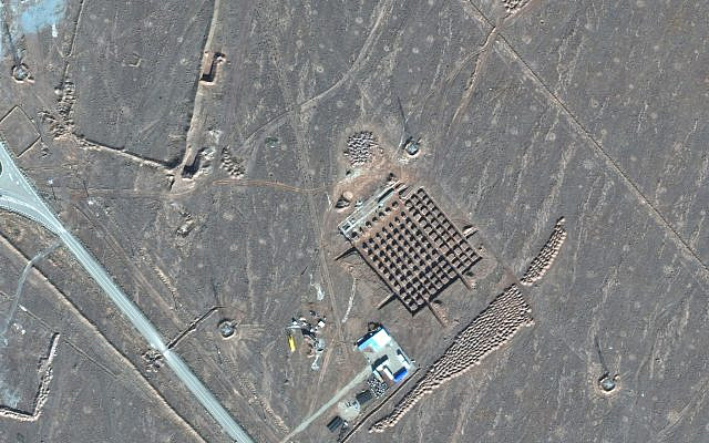 Construction at Iran's Fordo nuclear facility, on December 11, 2020. Iran has begun construction on a site at its underground nuclear facility at Fordo amid tensions with the US over its atomic program. (Maxar Technologies satellite photo, via AP)