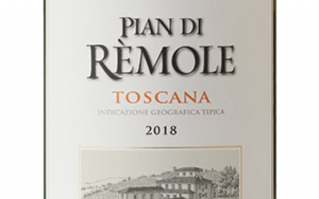 "The label of Frescobaldi ""Remole"".  With permission of Frescobaldi for editorial use (website)."