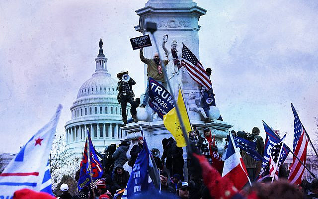 Rioting at the Capitol in Washington, Jan 6, 2021. (Spencer Platt/Getty Images)