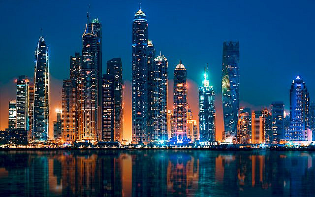 View of Dubai by night (iStock)