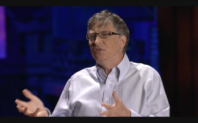 Bill Gates's 2010 TED Talk about his vision for the world's energy future became grist for conspiracy theorists. (Screenshot from video)