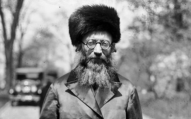 Rabbi Dr. Abraham I. Kook, April 15, 1924 (Detail from photo via Wiki-commons, PD)