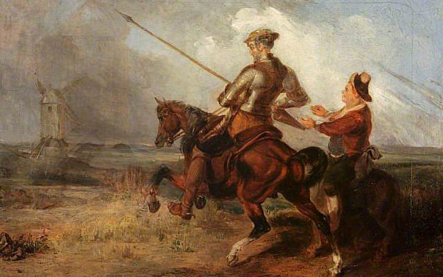 Don Quixote Tilting at a Windmill by William Stewart Watson - Art UK, Public Domain