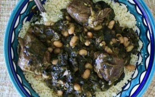 """""""Pkaila"""" a festive Jewish Tunisian dish."""