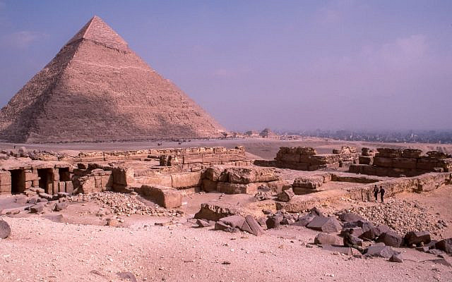 """""""Ruins near the Great Pyramid of Giza"""" by Les Anderson on Unsplash"""