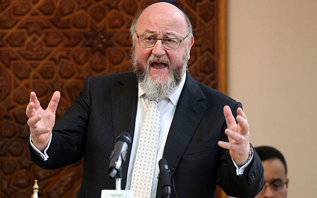 Chief Rabbi Ephraim Mirvis (Photo credit: Jonathan Brady/PA Wire) via Jewish News