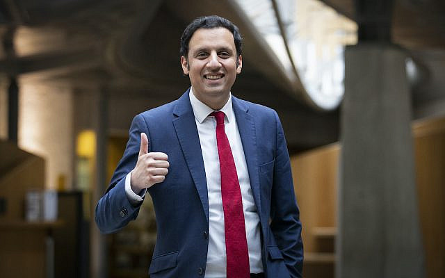 Scottish Labour leader Anas Sarwar in the Garden Lobby at the Scottish Parliament in Holyrood, Edinburgh. Picture date: Tuesday March 2, 2021.