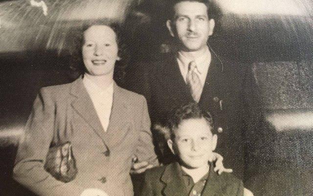 Sara/Salya, Chaim and Dov Feingold Rome, Italy late 1940s. Family photo.