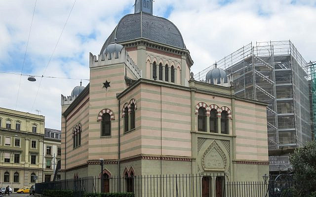 Illustrative: The Beth Yaakov Synagogue located in central Geneva.(Wikimedia Commons)