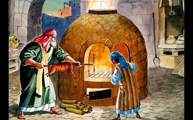 Cooking the Paschal offering. (via YouTube)