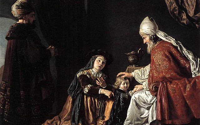 Hannah Giving Her Son Samuel to the Priest. Painting by Jan Victors  (1619–1676) (From the Berlin State Museums gallery via Wikimedia)