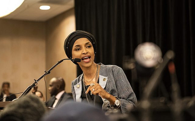 MINNEAPOLIS, MN - NOVEMBER 06: Minnesota Democratic Congressional Candidate Ilhan Omar speaks at an election night results party on November 6, 2018 in Minneapolis, Minnesota. Omar won the race for Minnesota's 5th congressional district seat against Republican candidate Jennifer Zielinski to become one of the first Muslim women elected to Congress. (Photo by Stephen Maturen/Getty Images)